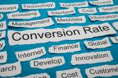 Conversion Rate Text — Stock Photo