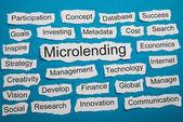 Word Micro-lending On Paper — Stock Photo