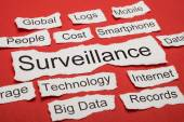 Word Surveillance On Piece of Paper — Stock Photo