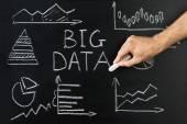 Diagrams And Big Data Text — Stock Photo