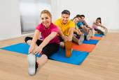 Happy People Stretching Legs — Foto de Stock