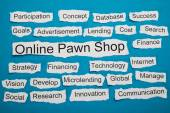 Online Pawn Shop Text — Stock Photo