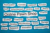 Online Pawn Shop Text — Stok fotoğraf