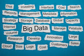 Big Data On Piece Of Paper — Stock Photo