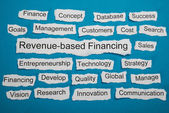 Revenue-based Financing Text — Stock Photo