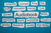 Word Audiobook On Piece Of Paper — Stock Photo
