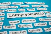 Entrepreneurship On Piece Of Paper — Stock Photo