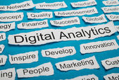 Digital Analytics On Piece Of Paper — Stock Photo