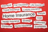 Home Insurance Text — Stock Photo