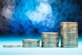 Raising Stack Of Coins — Foto de Stock