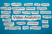 Video Analytics On Paper — Stock Photo