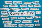 Conversion Rate Text On Paper — Stock Photo