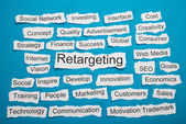 Retargeting On Piece Of Paper — Stock Photo