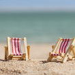 Two Deckchairs On Beach — Stock Photo #69619257