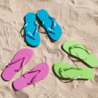 Colorful Pairs Of Flip-flops — Stock Photo #69619261
