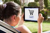 Woman Shopping Online — Stock Photo