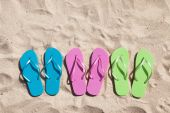 Colorful Pairs Of Flip-flops — Stock Photo