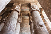 Interior Carved Hypostyle Hall — Stock Photo