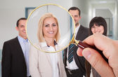 Person Looking For Candidate — Stock Photo