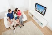Family Watching TV — Stock Photo