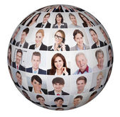 Collage Of Diverse Business People — Stock Photo