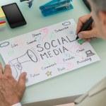 Businessman Planning Social Media Strategy — Stock Photo #72079161