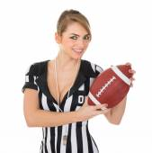 Referee With American Football — Stock Photo