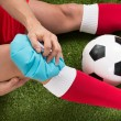 Soccer Player Icing Knee — Stock Photo #73538407