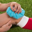 Soccer Player Icing Knee — Stock Photo #73538773