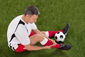 Soccer Player With Injury — Stock Photo