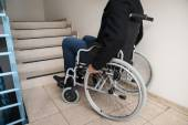 Disabled Man On Wheelchair — Stock Photo