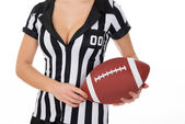 Referee Holding American Football — Stock Photo
