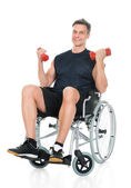 Handicapped Man On Wheelchair — Stock Photo