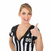 Referee With Thumb Up Sign — Stock Photo