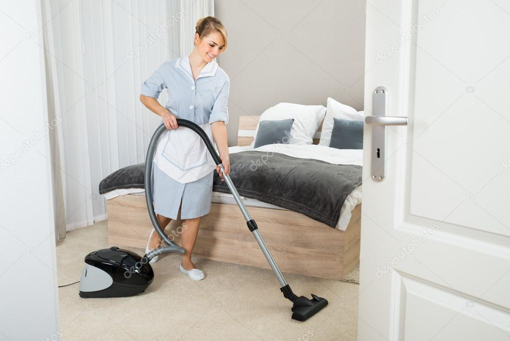 Maid With Vacuum Cleaner Stock Photo Andreypopov 73538239