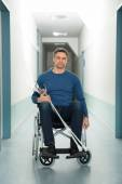 Man Sitting On Wheelchair — Stock Photo