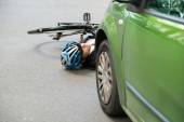 Cyclist After road Accident — Stock Photo