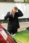 Driver Making Phone Calls — Stock Photo