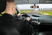 Businessman Driving Car — Stock Photo