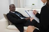 Psychiatrist Making Notes — Stock Photo