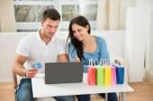 Para zakupy online — Zdjęcie stockowe
