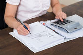 Accountant Calculating Bills — Stock Photo