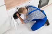 Worker Making Washer — Stock Photo