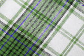 Close up of the checked fabric tecture — Stock Photo