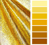 Golden color chart selection for interior — Stock Photo