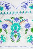 Embroidered fabric texture in old style — Стоковое фото