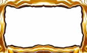 Golden abstract blurry smooth border frame — Stock Photo