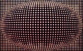 Spotted spherical black red  background — Stock Photo