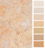 Granite ivory color palette selection for interior — Stockfoto