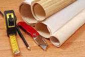 Wallpaper and tools — Stock Photo